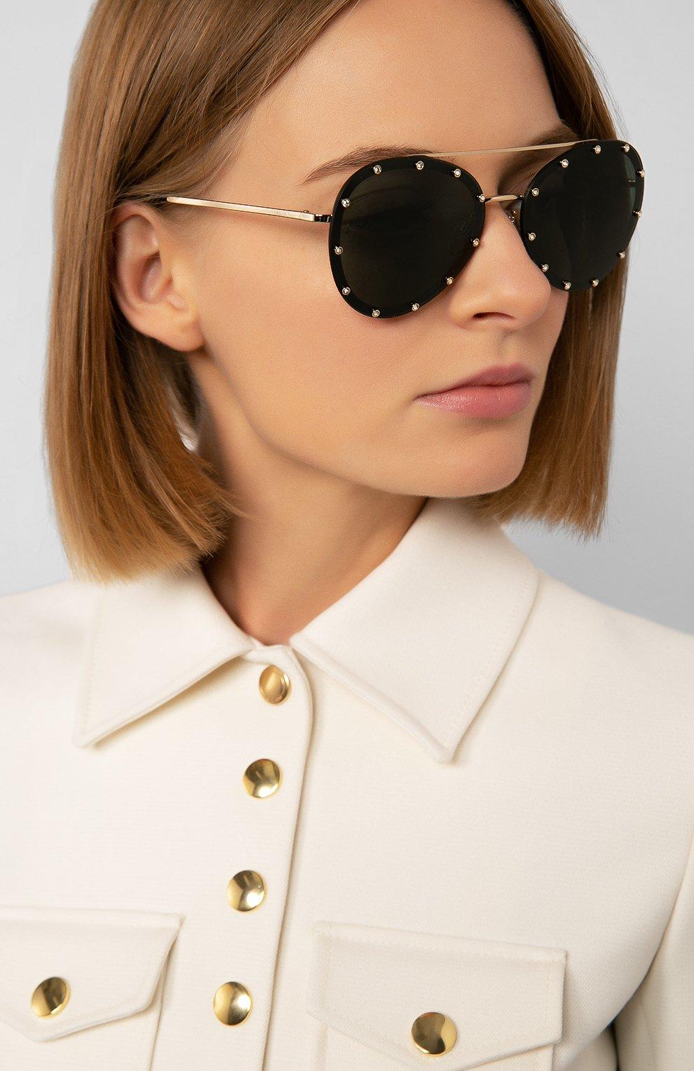 Женские солнцезащитные очки VALENTINO зеленого цвета, арт. 2013-300271 | Фото 2