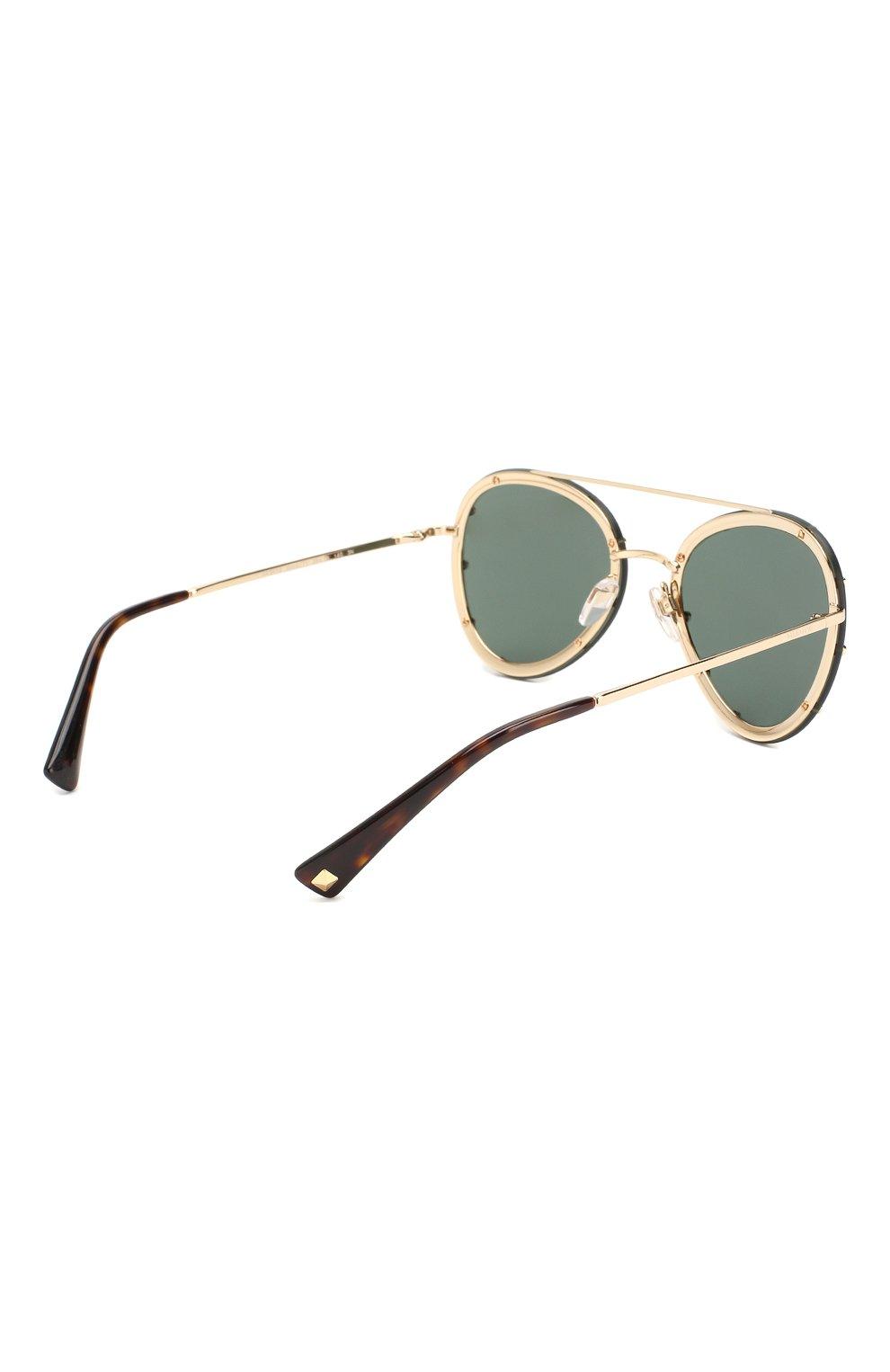 Женские солнцезащитные очки VALENTINO зеленого цвета, арт. 2013-300271 | Фото 4