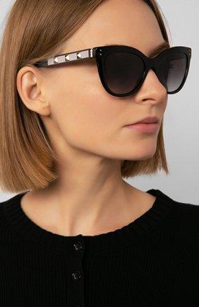 Женские солнцезащитные очки VALENTINO черного цвета, арт. 4049-50018G   Фото 2