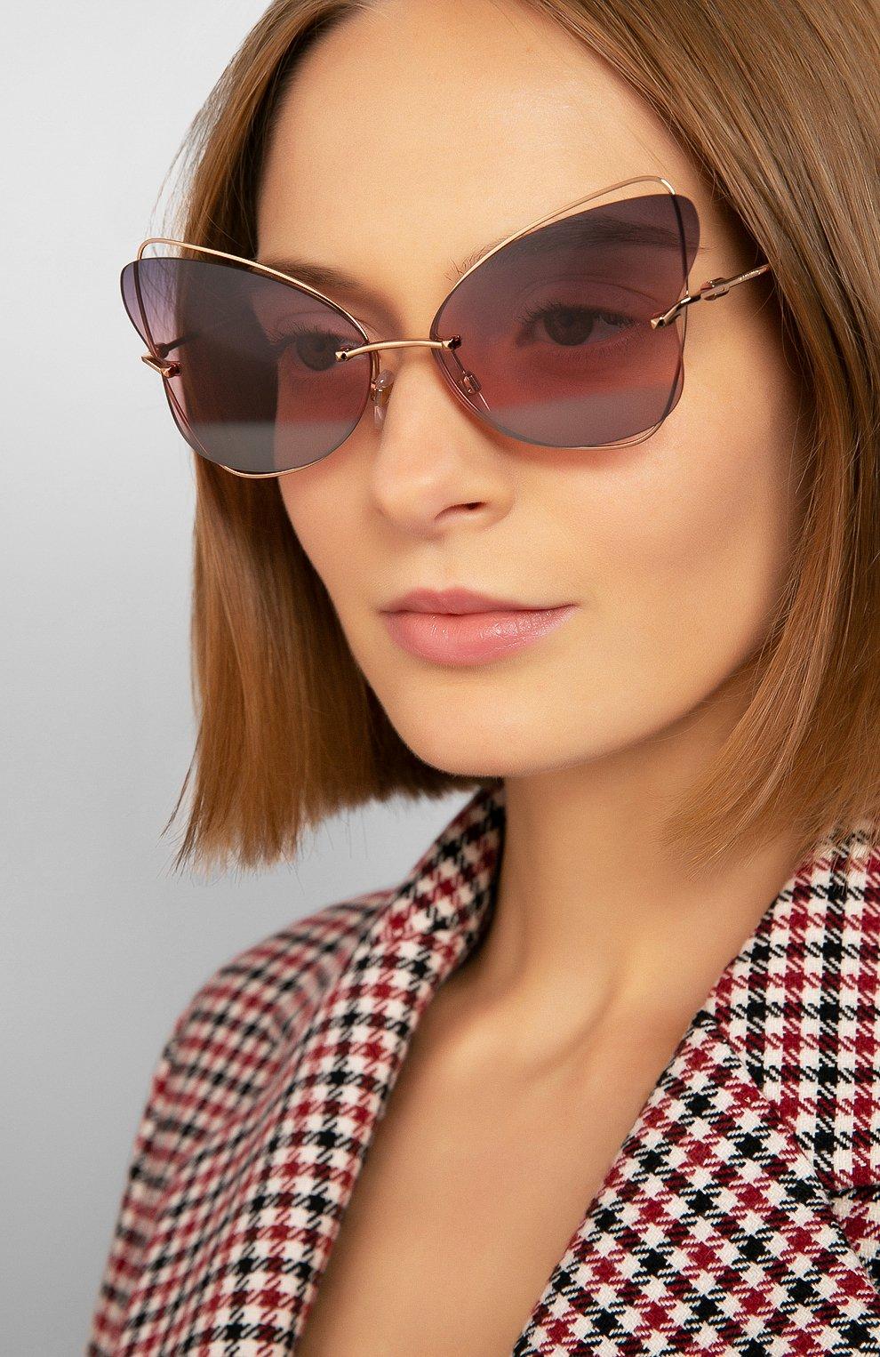 Женские солнцезащитные очки VALENTINO разноцветного цвета, арт. 2031-3004E6   Фото 2
