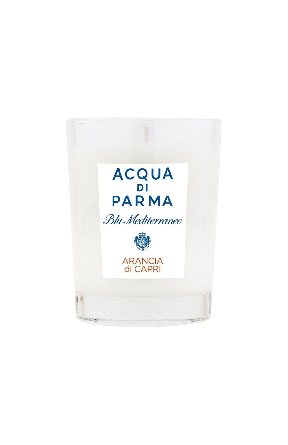 Мужская свеча парфюмированная arancia du capri ACQUA DI PARMA бесцветного цвета, арт. 62005 | Фото 1
