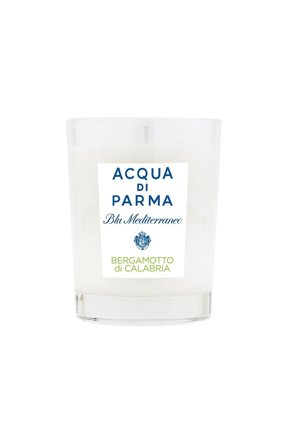 Мужская свеча парфюмированная bergamotto di calabria ACQUA DI PARMA бесцветного цвета, арт. 62006 | Фото 1