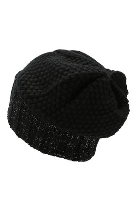 Женский кашемировая шапка KASHJA` CASHMERE черного цвета, арт. ZU3/L | Фото 2