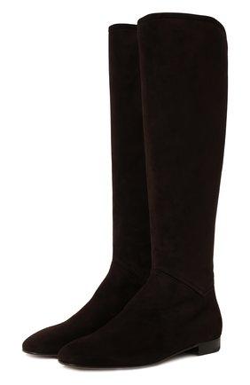 Женские замшевые сапоги jeanne LORO PIANA коричневого цвета, арт. FAI2299 | Фото 1