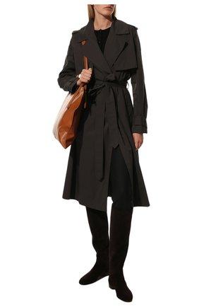 Женские замшевые сапоги jeanne LORO PIANA коричневого цвета, арт. FAI2299 | Фото 2