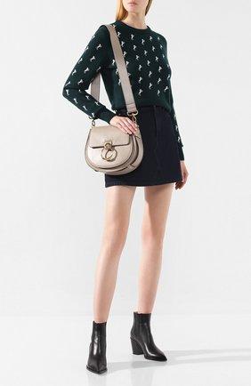 Женская сумка tess large CHLOÉ серого цвета, арт. CHC18WS152A37   Фото 2