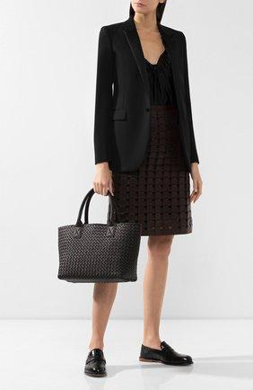 Женская сумка cabat small BOTTEGA VENETA коричневого цвета, арт. 141498/VAPN1 | Фото 2