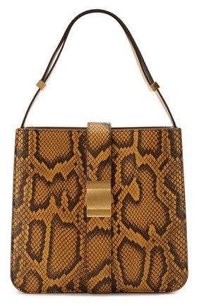 Женская сумка marie из кожи питона BOTTEGA VENETA желтого цвета, арт. 578344/VMAN1/PBIV | Фото 1