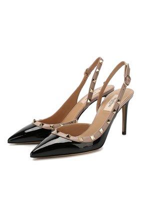 Женская кожаные туфли valentino garavani rockstud VALENTINO черного цвета, арт. SW0S0H04/VNW | Фото 1