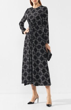 Женская кожаные туфли valentino garavani rockstud VALENTINO черного цвета, арт. SW0S0H04/VNW | Фото 2