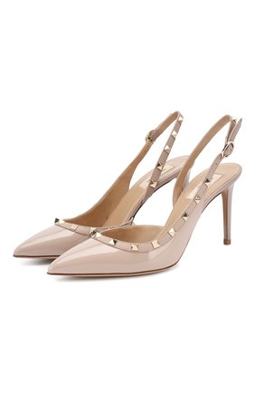 Женская кожаные туфли valentino garavani rockstud VALENTINO бежевого цвета, арт. ZW2S0H04/VNW | Фото 1