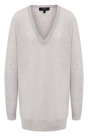 Женская кашемировый пуловер THEORY светло-серого цвета, арт. J0618720 | Фото 1