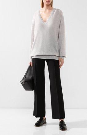 Женская кашемировый пуловер THEORY светло-серого цвета, арт. J0618720 | Фото 2