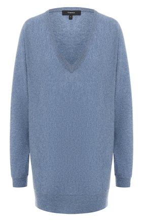 Женская кашемировый пуловер THEORY синего цвета, арт. J0618720 | Фото 1