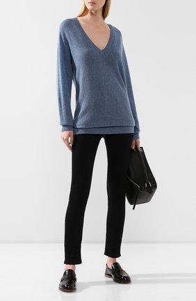 Женская кашемировый пуловер THEORY синего цвета, арт. J0618720 | Фото 2