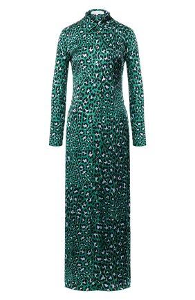 Женское шелковое платье OLIVIA VON HALLE зеленого цвета, арт. AW1946 | Фото 1