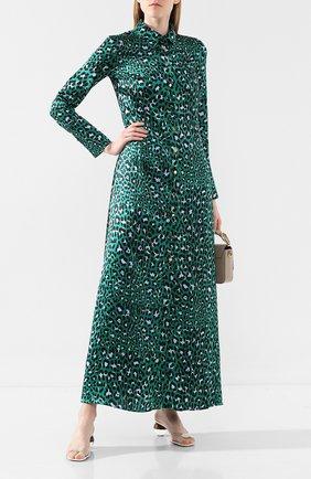 Женское шелковое платье OLIVIA VON HALLE зеленого цвета, арт. AW1946 | Фото 2