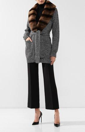 Женский кашемировый кардиган DOLCE & GABBANA серого цвета, арт. FX498T/JAWQZ | Фото 2