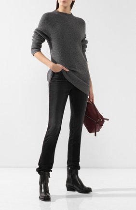 Женская свитер из смеси шерсти и кашемира JOSEPH темно-серого цвета, арт. JF003375 | Фото 2