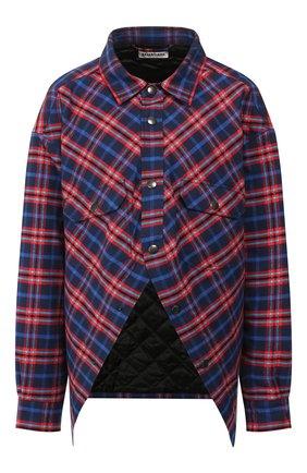 Женская хлопковая рубашка BALENCIAGA синего цвета, арт. 583874/TFM06 | Фото 1
