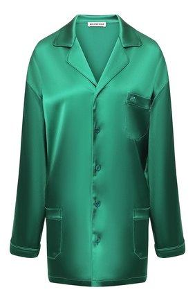 Женская рубашка BALENCIAGA зеленого цвета, арт. 583533/TA021 | Фото 1