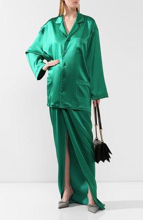 Женская рубашка BALENCIAGA зеленого цвета, арт. 583533/TA021 | Фото 2