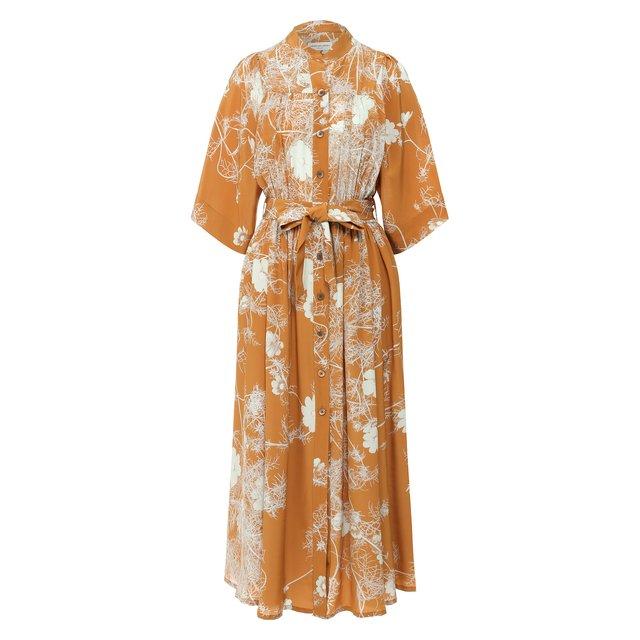 Шелковое платье Dries Van Noten.