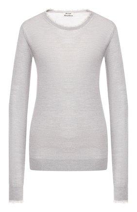 Женская шерстяной пуловер ACNE STUDIOS серого цвета, арт. A60121 | Фото 1