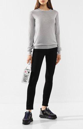 Женская шерстяной пуловер ACNE STUDIOS серого цвета, арт. A60121 | Фото 2