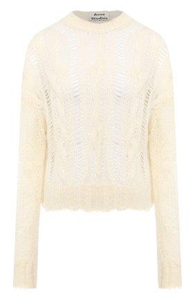 Женская свитер ACNE STUDIOS белого цвета, арт. A60111 | Фото 1