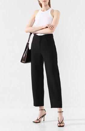 Женские брюки TOTÊME черного цвета, арт. N0VARA 193-209-705 | Фото 2
