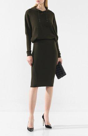 Женское кашемировое платье TOM FORD хаки цвета, арт. ACK182-YAX179 | Фото 2