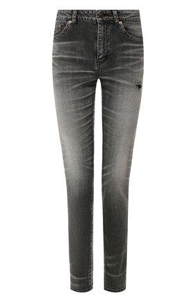 Женские джинсы SAINT LAURENT черного цвета, арт. 542046/YT500 | Фото 1