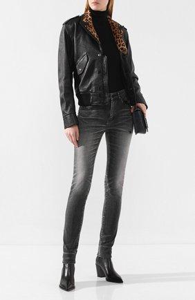 Женские джинсы SAINT LAURENT черного цвета, арт. 542046/YT500 | Фото 2