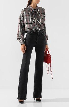 Женские джинсы BALENCIAGA темно-серого цвета, арт. 594390/TBP47 | Фото 2
