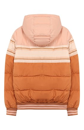 Детская куртка с капюшоном CHLOÉ светло-коричневого цвета, арт. C16355 | Фото 2