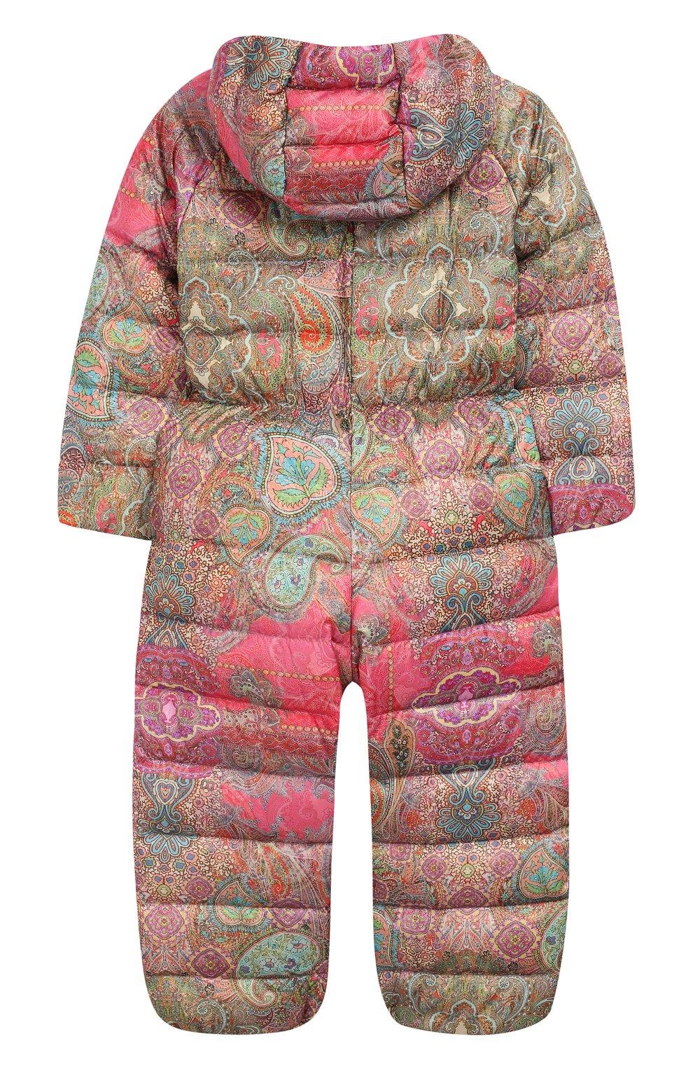Детского пуховый комбинезон кашмир CHEPE разноцветного цвета, арт. 391269   Фото 2