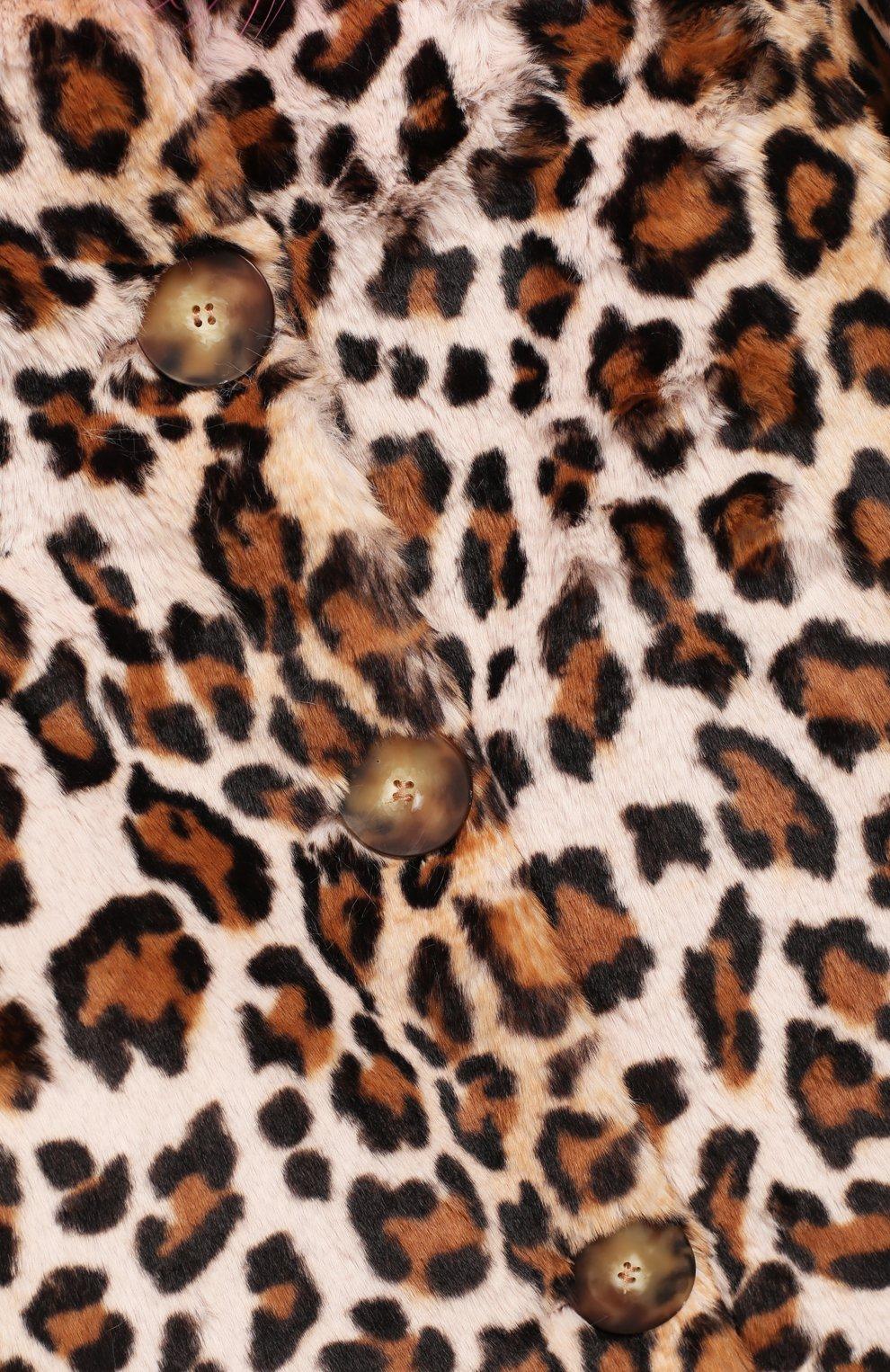 Пальто из эко-меха | Фото №3