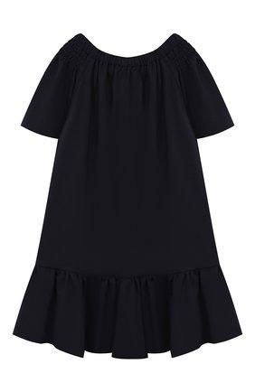 Детское платье CAF синего цвета, арт. 308-XX-AI1920/6A-8A | Фото 2 (Принт: Без принта; Рукава: Короткие; Ростовка одежда: 7 лет | 122 см, 8 лет | 128 см)