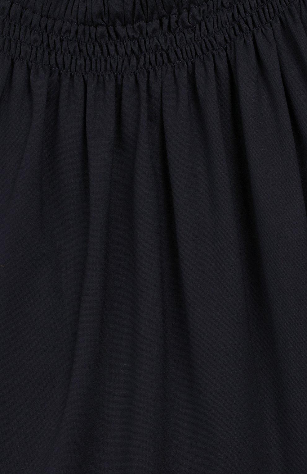Детское платье CAF синего цвета, арт. 308-XX-AI1920/6A-8A | Фото 3 (Принт: Без принта; Рукава: Короткие; Ростовка одежда: 7 лет | 122 см, 8 лет | 128 см)