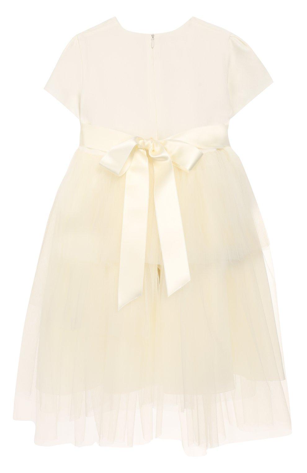 Женская платье с поясом CAF белого цвета, арт. 103-FP-AI1819/5A-7A | Фото 2