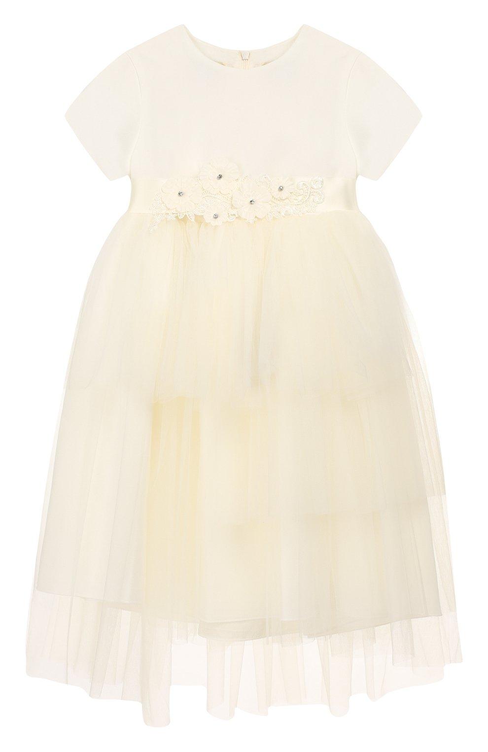 Женская платье с поясом CAF белого цвета, арт. 103-FP-AI1819/12M-4A | Фото 1