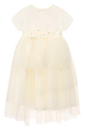 Женский платье с поясом CAF белого цвета, арт. 103-FP-AI1819/12M-4A | Фото 1