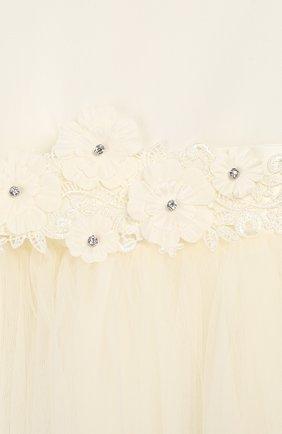 Женская платье с поясом CAF белого цвета, арт. 103-FP-AI1819/12M-4A | Фото 3