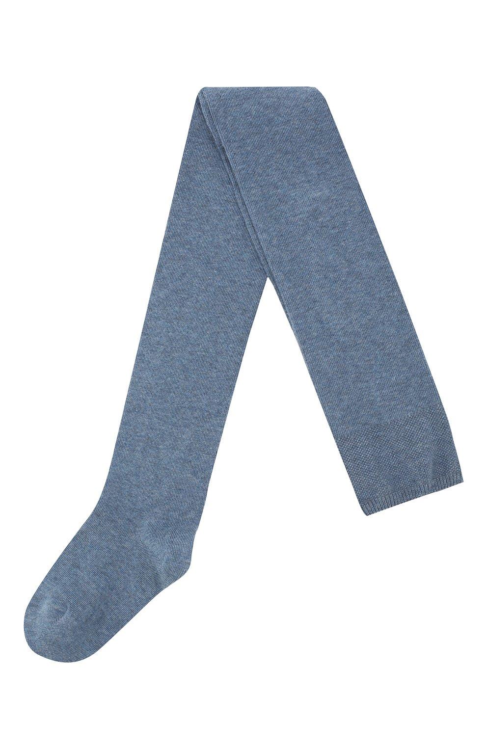 Детские хлопковые колготки FALKE голубого цвета, арт. 13645 | Фото 1 (Материал: Текстиль, Хлопок; Статус проверки: Проверено, Проверена категория)