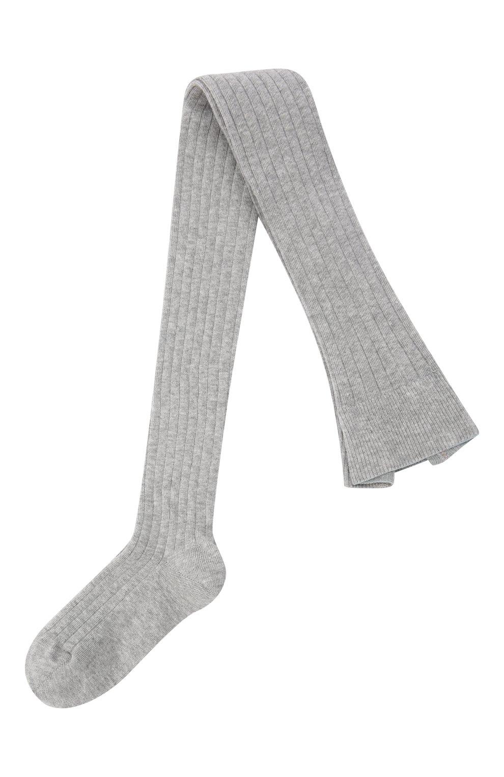 Детские хлопковые колготки FALKE серого цвета, арт. 13642 | Фото 1 (Материал: Текстиль, Хлопок; Статус проверки: Проверено, Проверена категория)