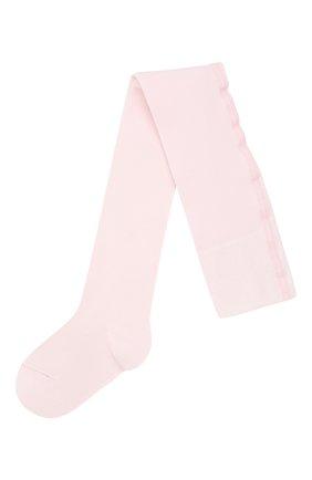 Детские хлопковые колготки FALKE розового цвета, арт. 13625 | Фото 1
