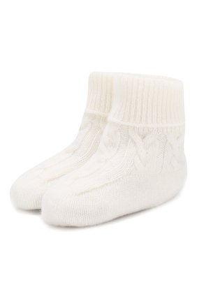 Детские кашемировые носки LORO PIANA белого цвета, арт. FAI7188 | Фото 1