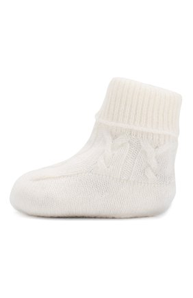 Детские кашемировые носки LORO PIANA белого цвета, арт. FAI7188 | Фото 2