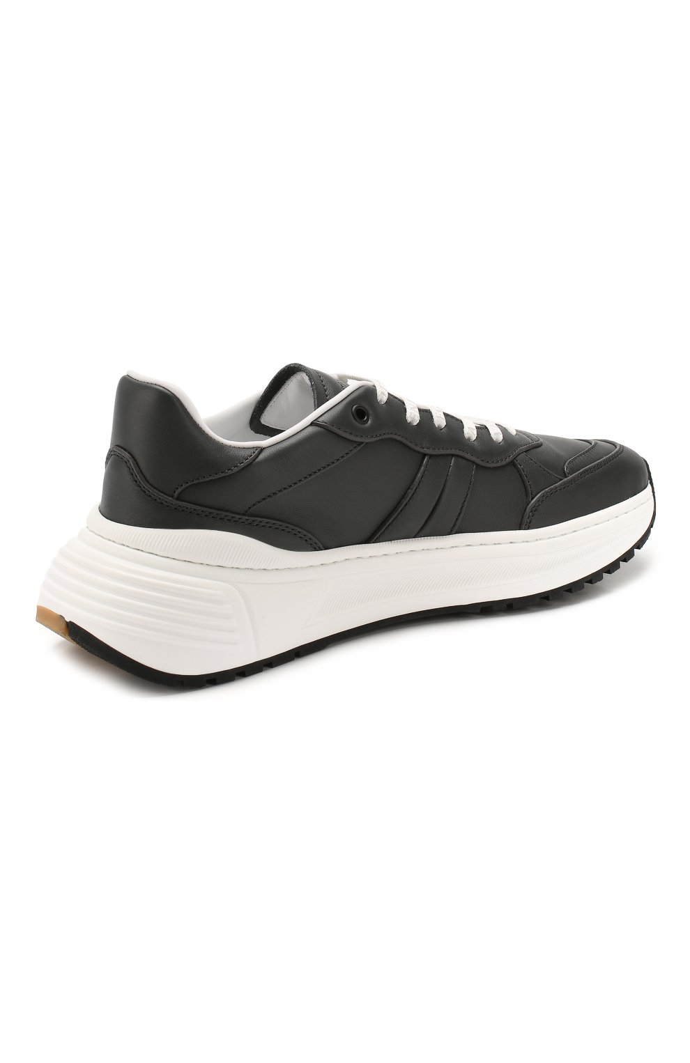 Мужские кожаные кроссовки BOTTEGA VENETA темно-серого цвета, арт. 565646/VT040 | Фото 4